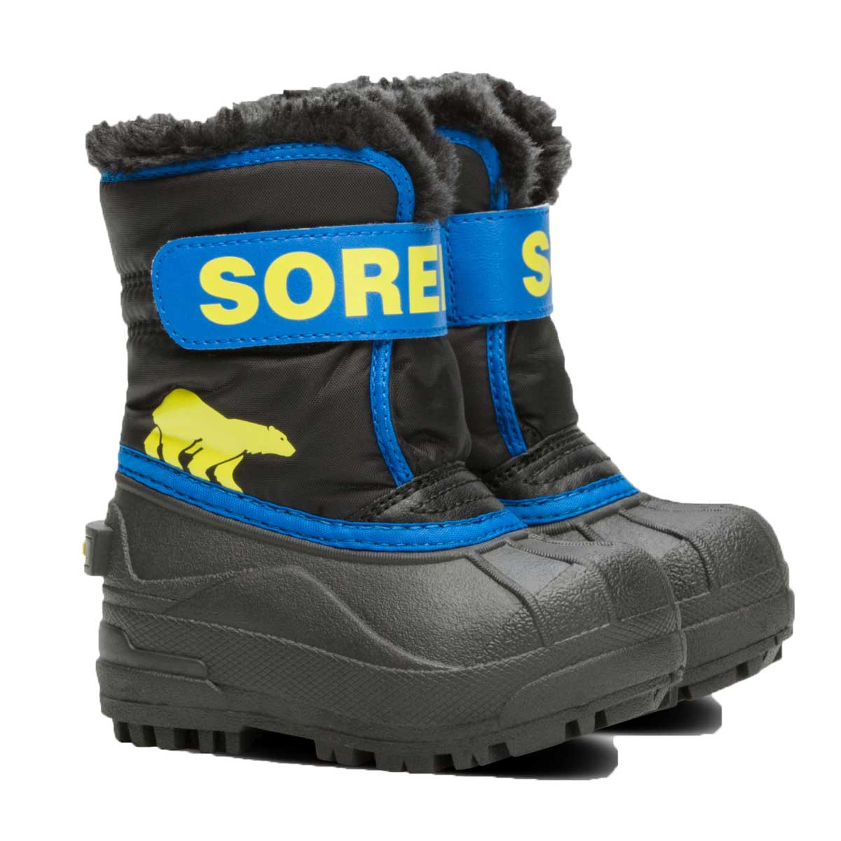 Sorel Toddlers' Snow Commander Boot in Black and Super Blue
