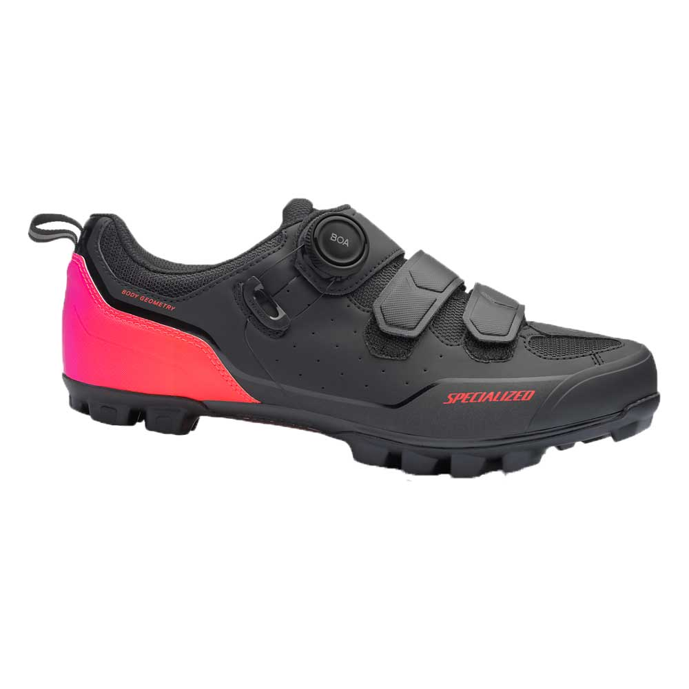 Specialized Men's Comp MTB Shoe in Black and Acid Lava