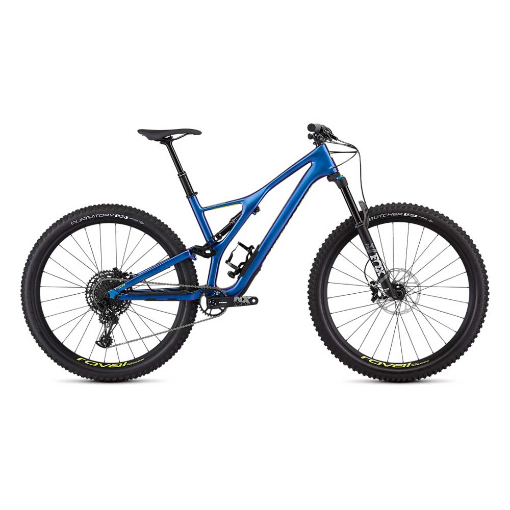 Specialized Men's Stumpjumper Comp Carbon 29 in Chameleon and Hyper Green