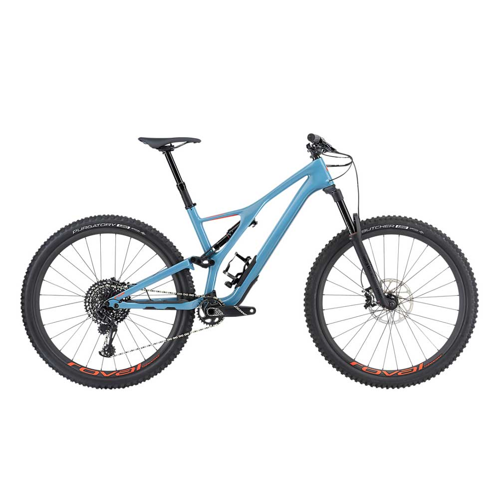 Specialized Stumpjumper FSR Expert Carbon 29 in Storm Grey and Rocket Red