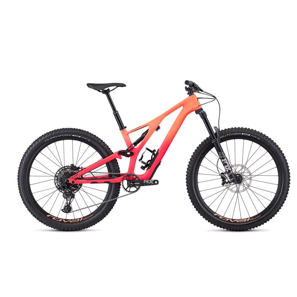 Specialized Women's Stumpjumper FSR Comp Carbon 27.5 in Acid Lava and Acid Pink