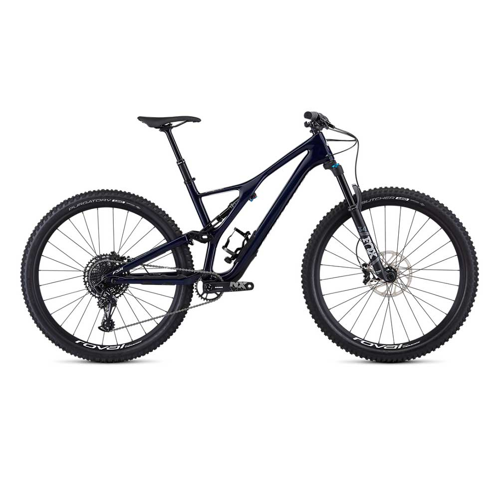 Specialized Stumpjumper FSR ST Comp Carbon 29 in Blue Tint Carbon-White
