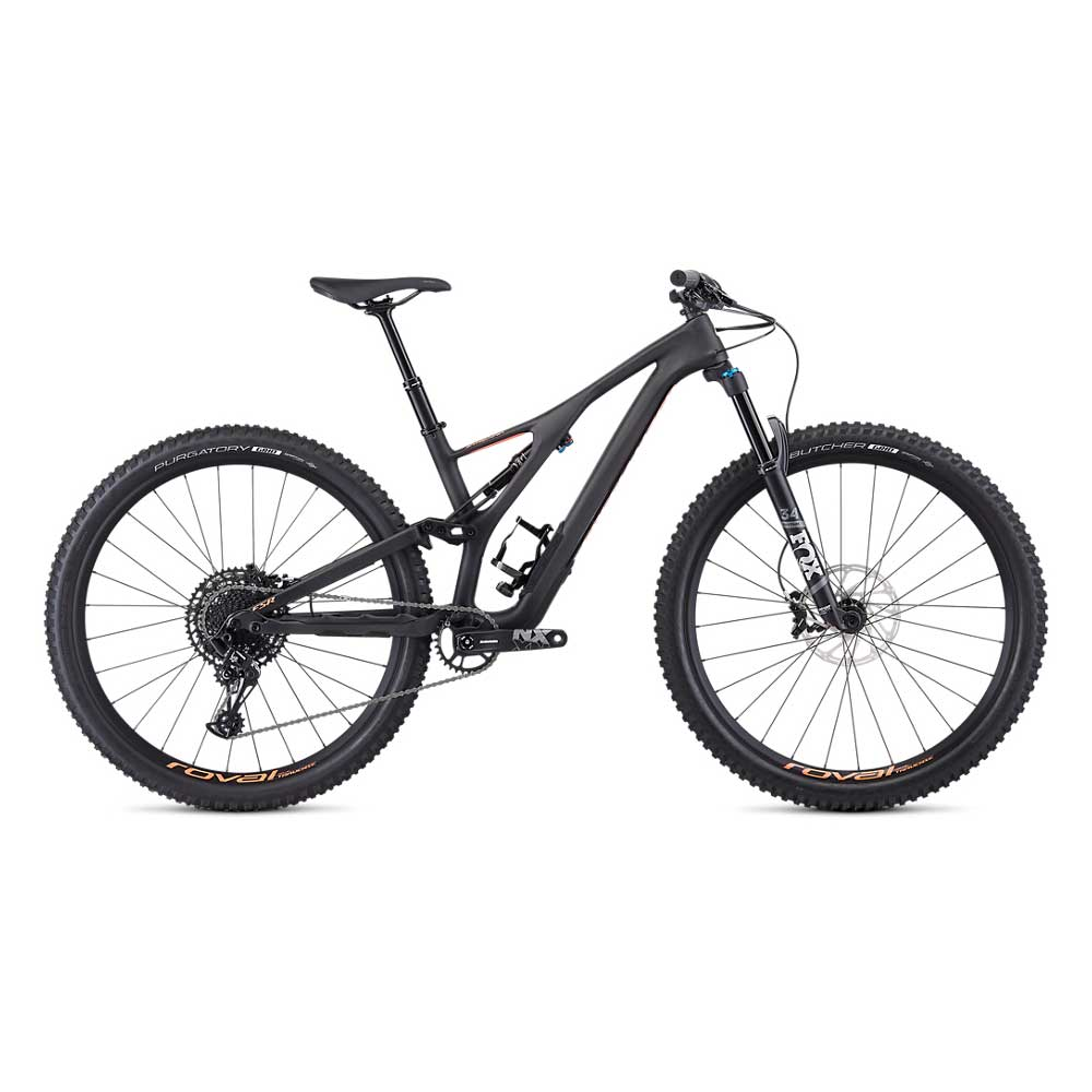 Specialized Women's Stumpjumper FSR ST Comp Carbon 29 in Carbon and Acid Lava
