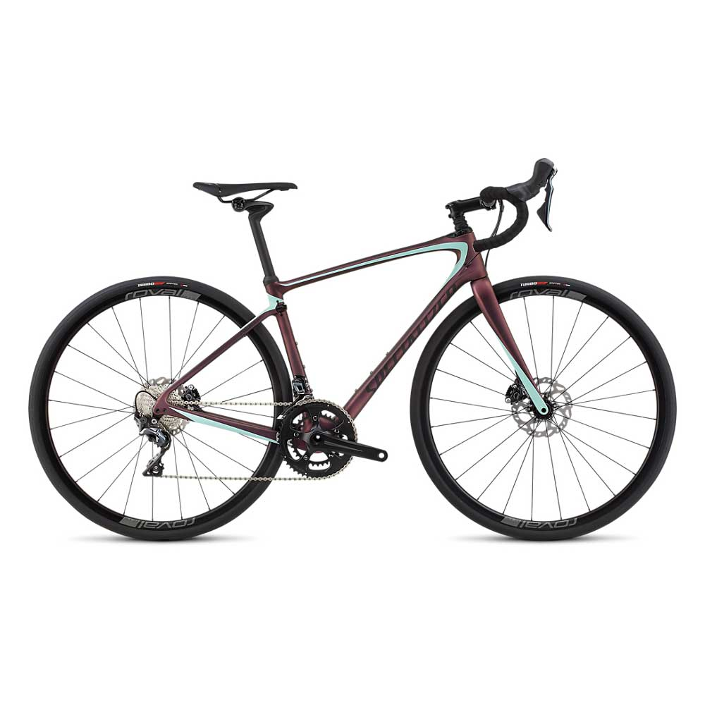 Specialized Women's Ruby Comp Bike in Cast Berry and Mint