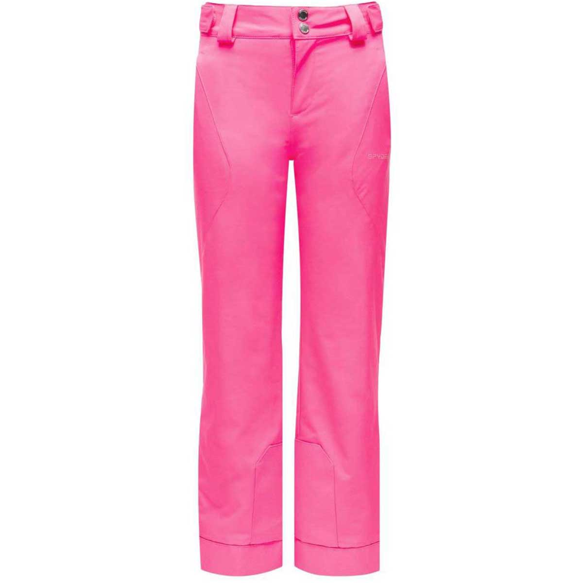 Spyder girls' Olympia Pant in Bryte Bubblegum front view