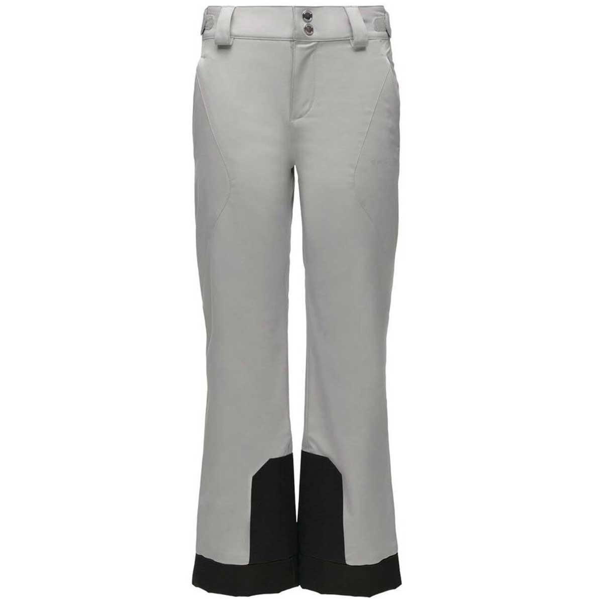 Spyder girls' Olympia Pant in Silver front view
