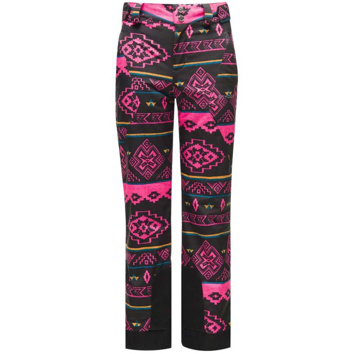 Spyder girls' Olympia Pant in Sweater Weather Print front view