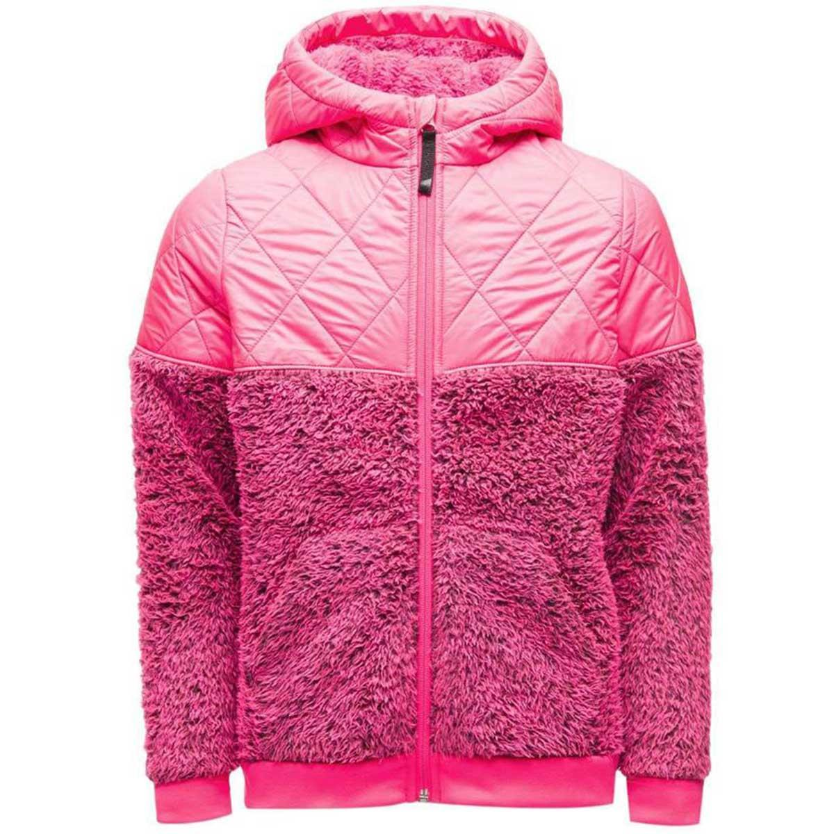 Spyder girls' Park Hoodie in Bryte Bubblegum main view