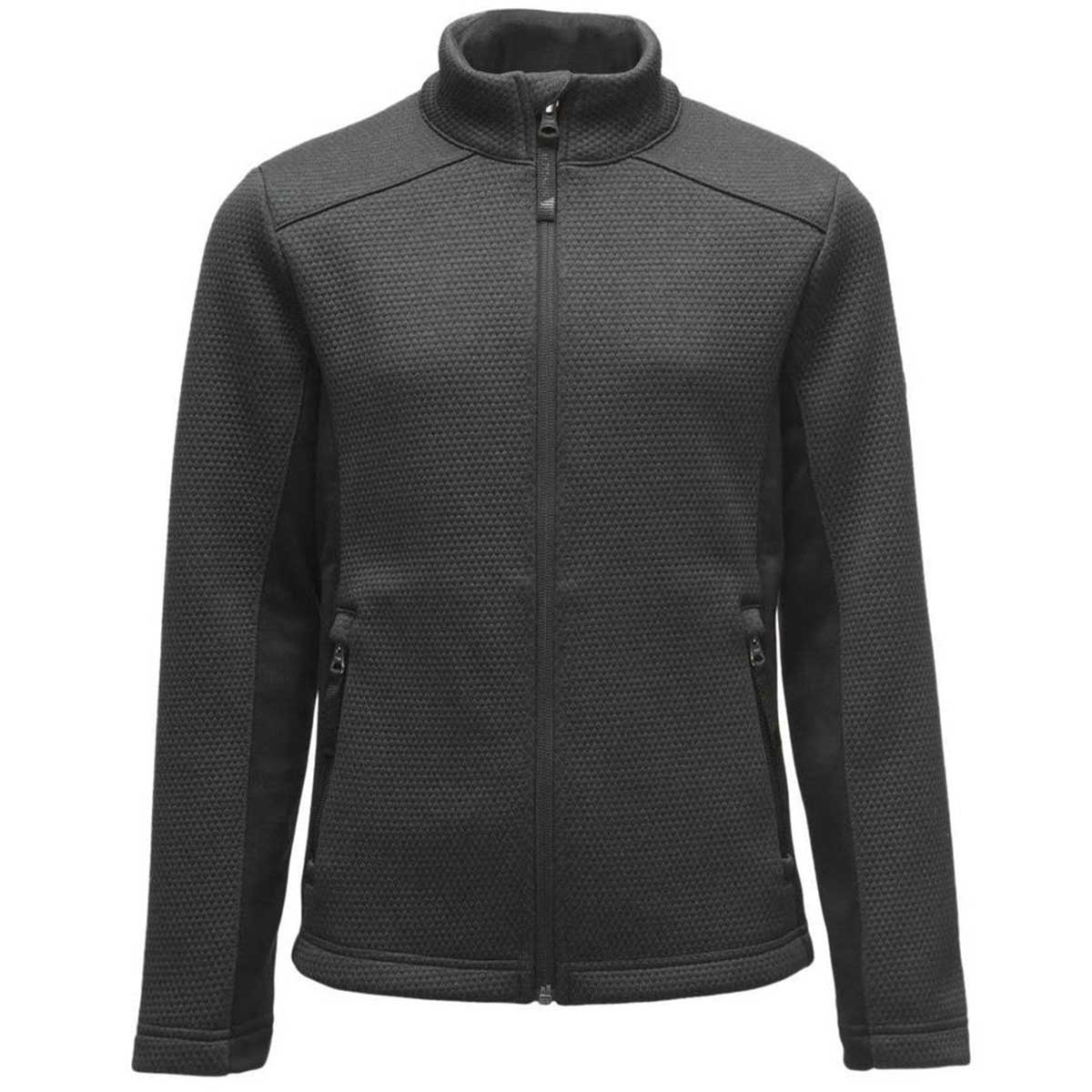 Spyder girls' Encore Fleece Jacket in Black main view