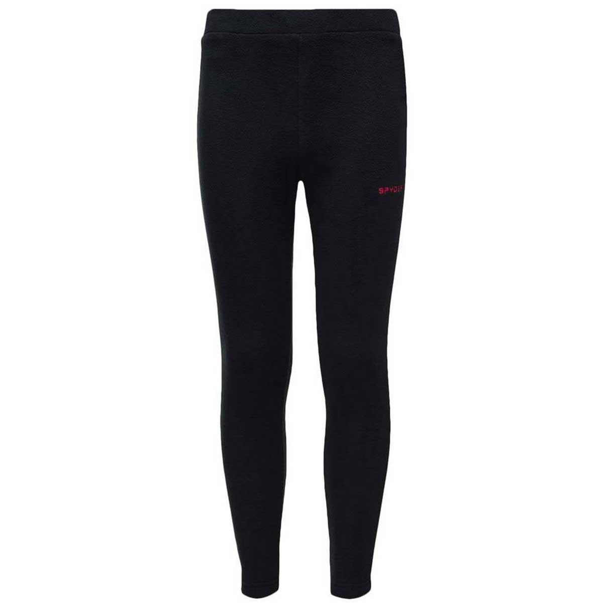 Spyder girls' Speed Fleece Pant in Black main view