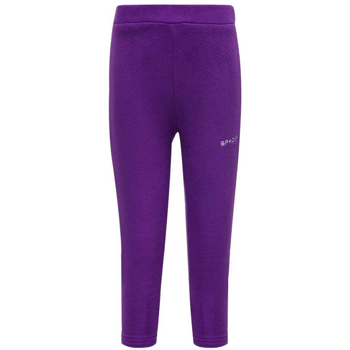 Spyder girls' Bitsy Speed Fleece Pant in Majesty front view