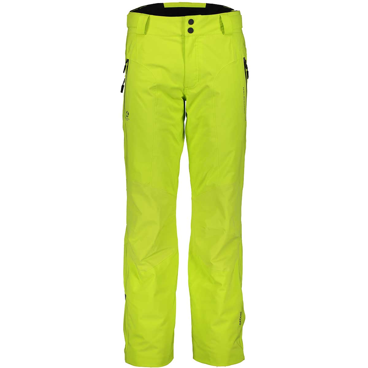 Obermeyer men's Process Pant in Limelight front view