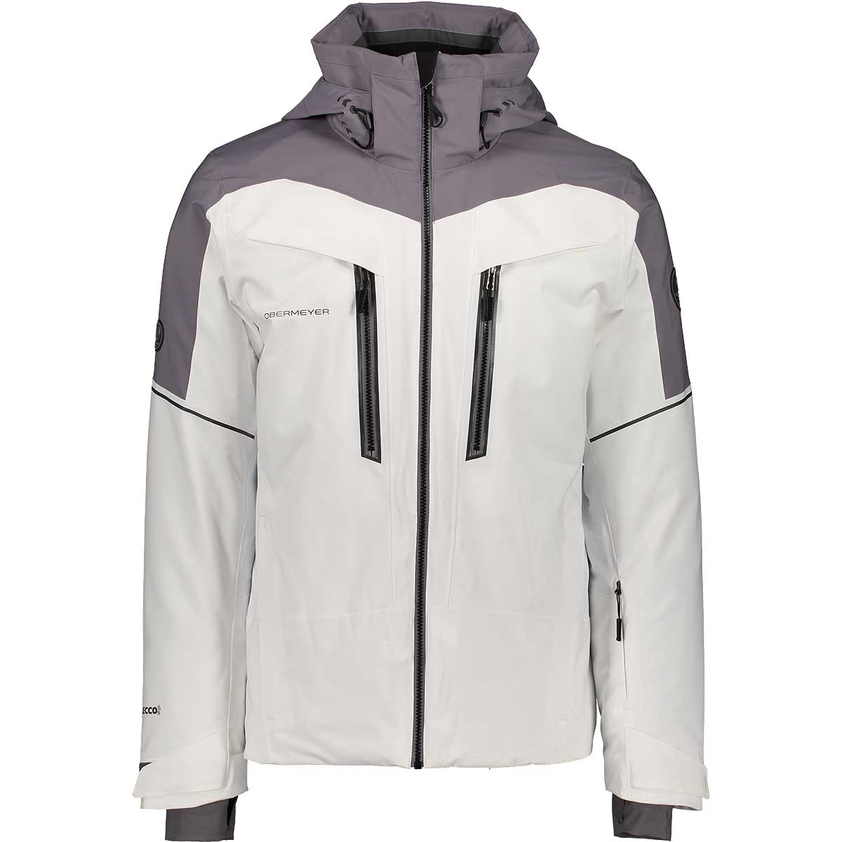 Obermeyer men's Charger Jacket in White front view