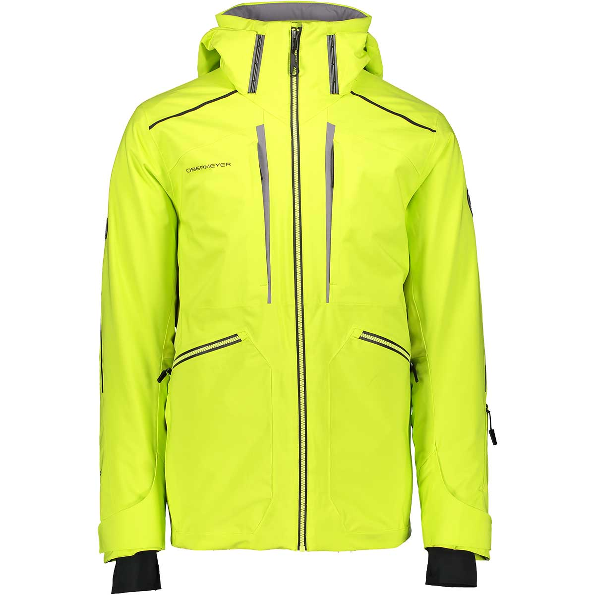 Obermeyer men's Kodiak Jacket in Limelight front view