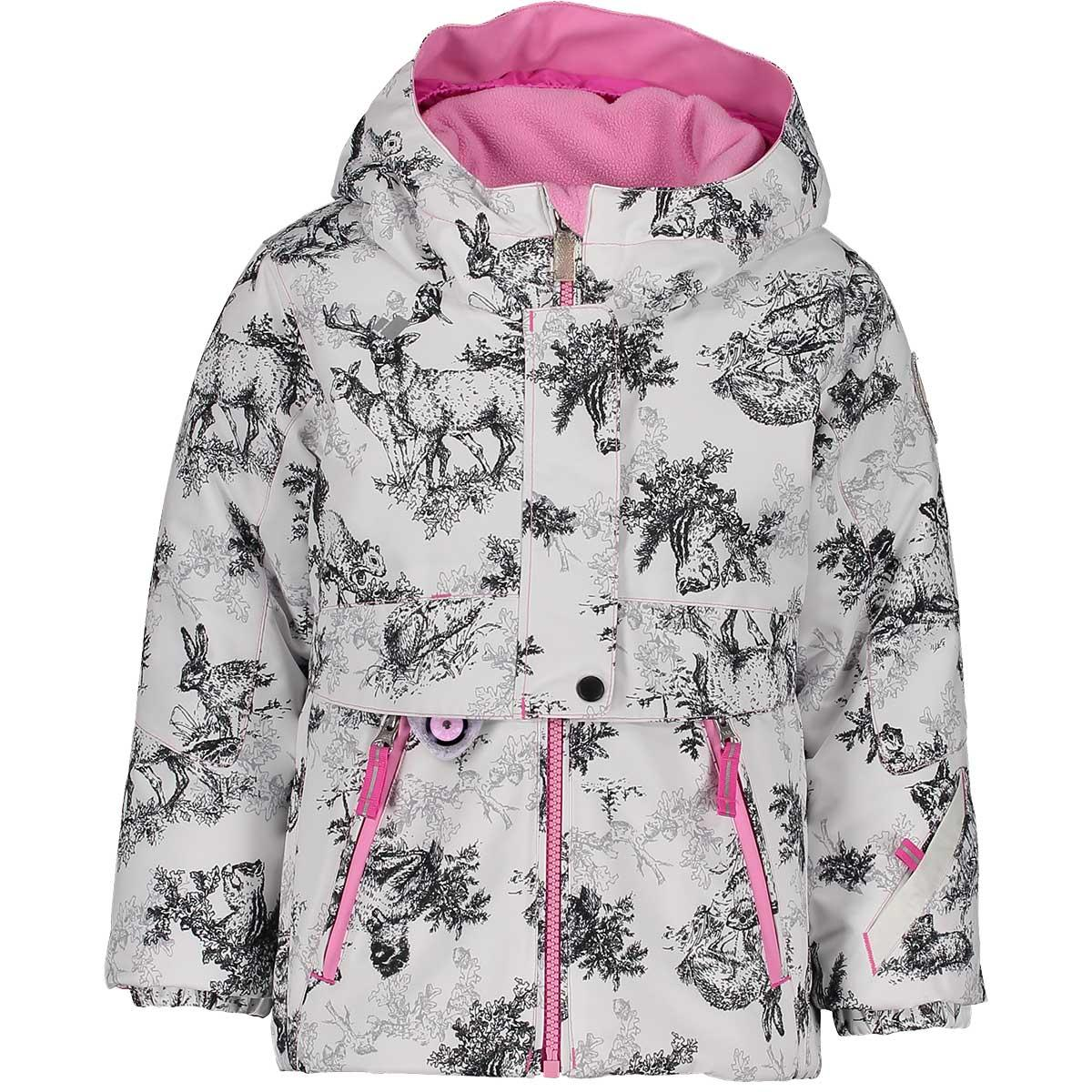Obermeyer girls' Stormy Jacket in Little Ones front view