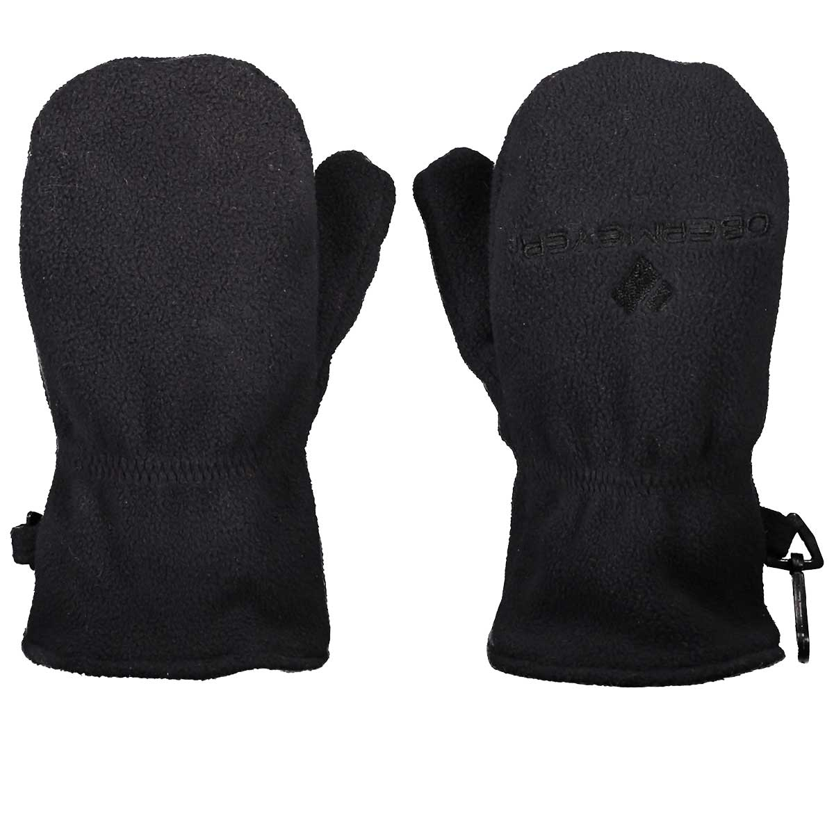 Obermeyer kids' Finley Fleece Mitten in Black main view