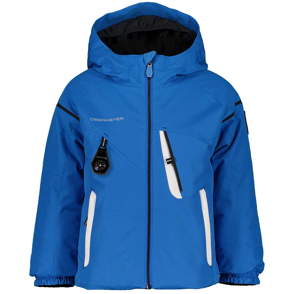 Obermeyer boys' ORB Jacket in Blue Vibes front view
