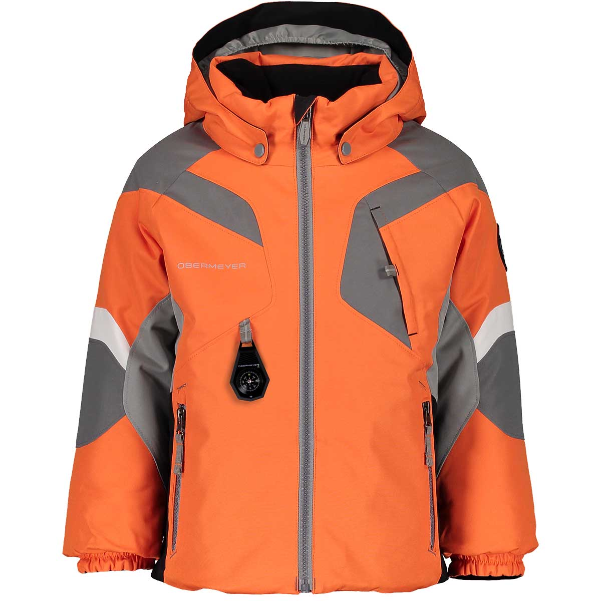 Obermeyer boys' Altair Jacket in Ober Orange front view