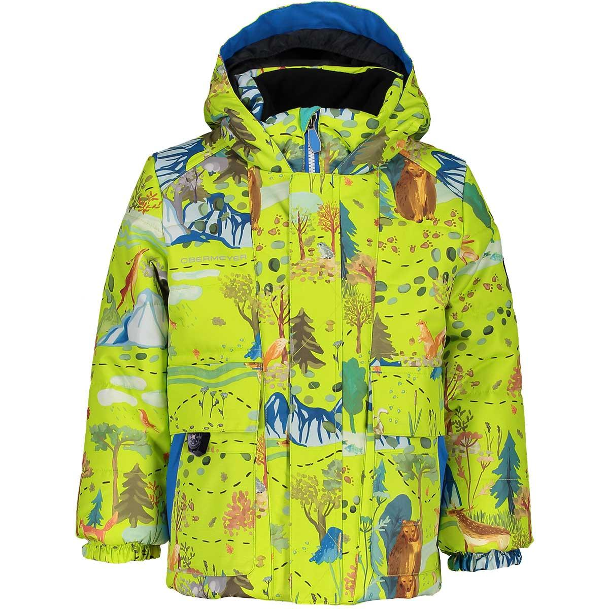 Obermeyer boys' M-Way Jacket in Forest Life front view