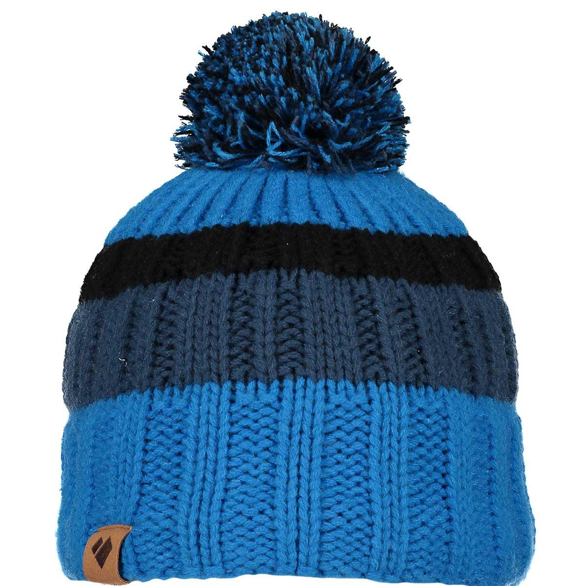 Obermeyer boys' Powell Pom Beanie in Blue Vibes main view