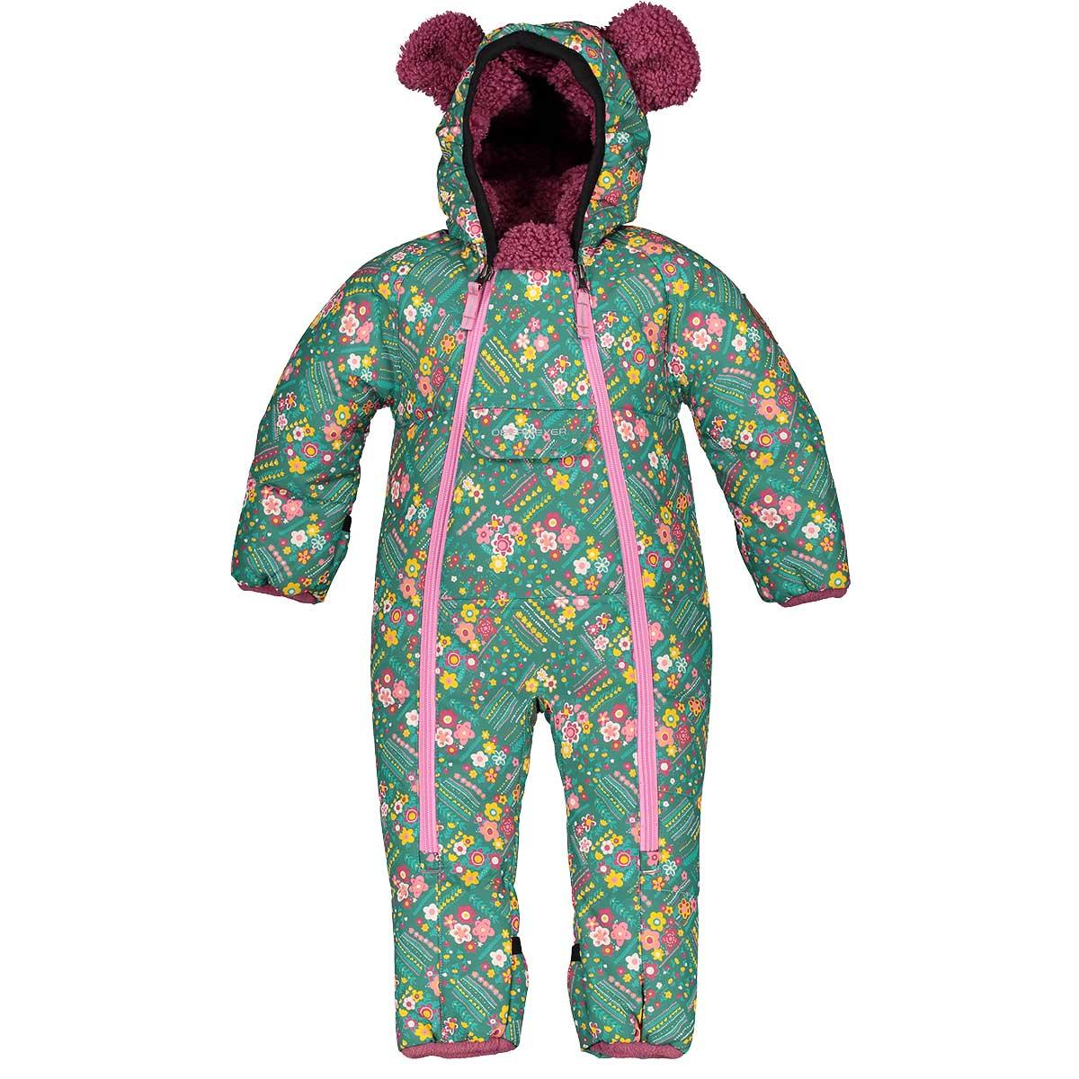 Obermeyer toddlers' Kleine Bunting Snow Suit in Garden Patch front view