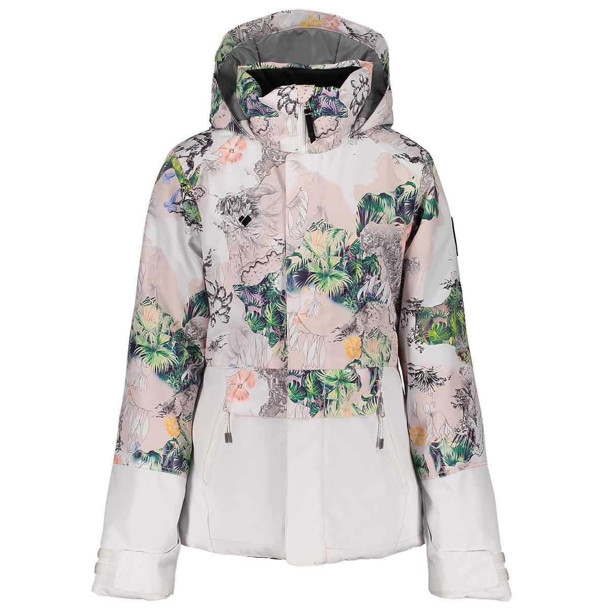 Obermeyer teen girls' Taja Print Jacket in Tell Me A Story front view
