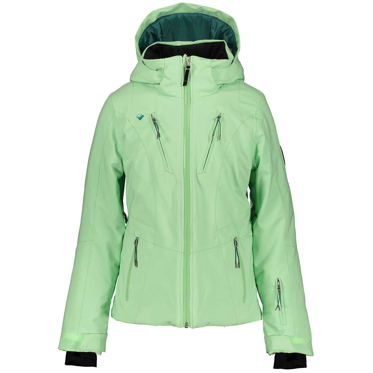 Obermeyer teen girls' Leia Jacket in Neo Mint front view