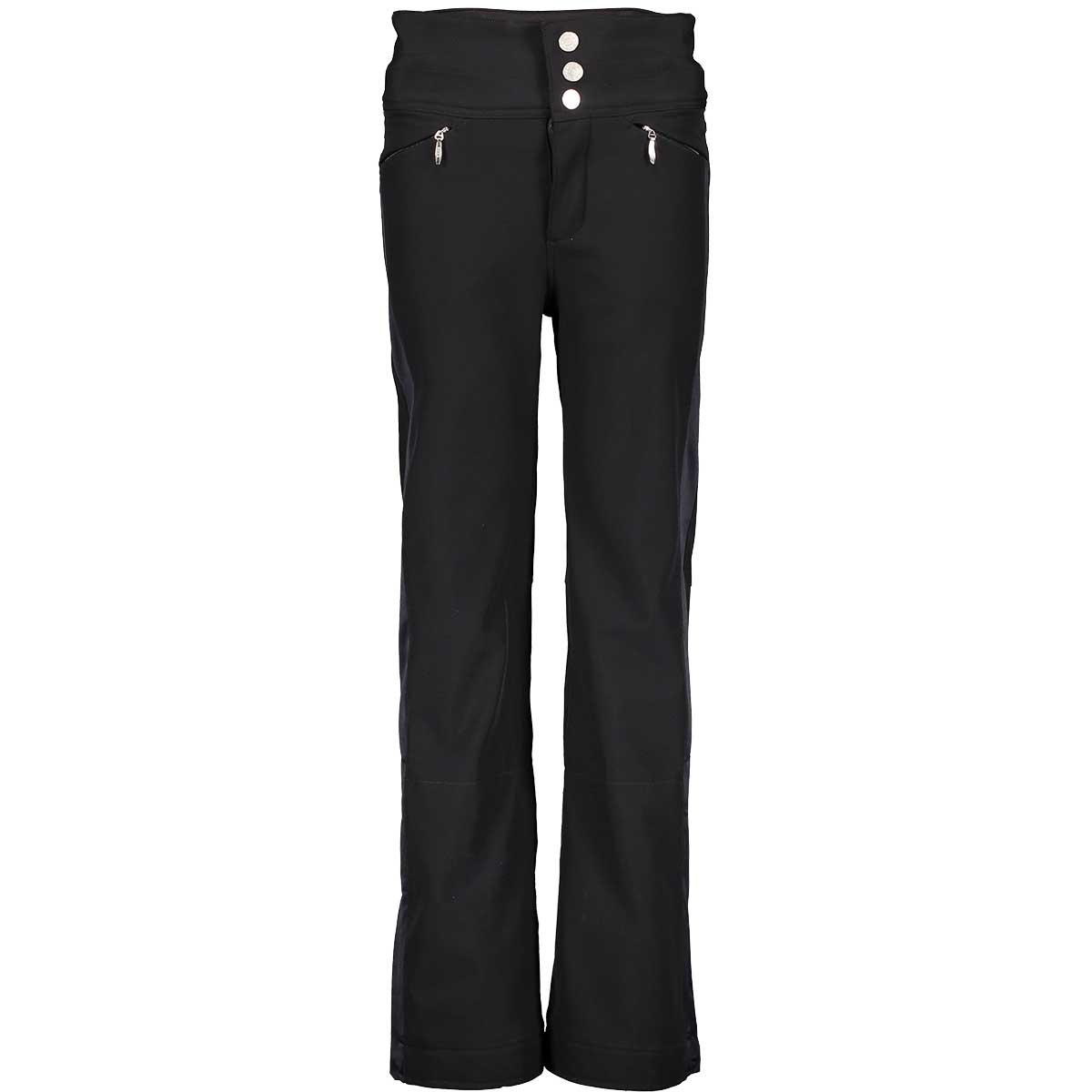Obermeyer Teen Girls' Jolie Softshell Pant in Black front view