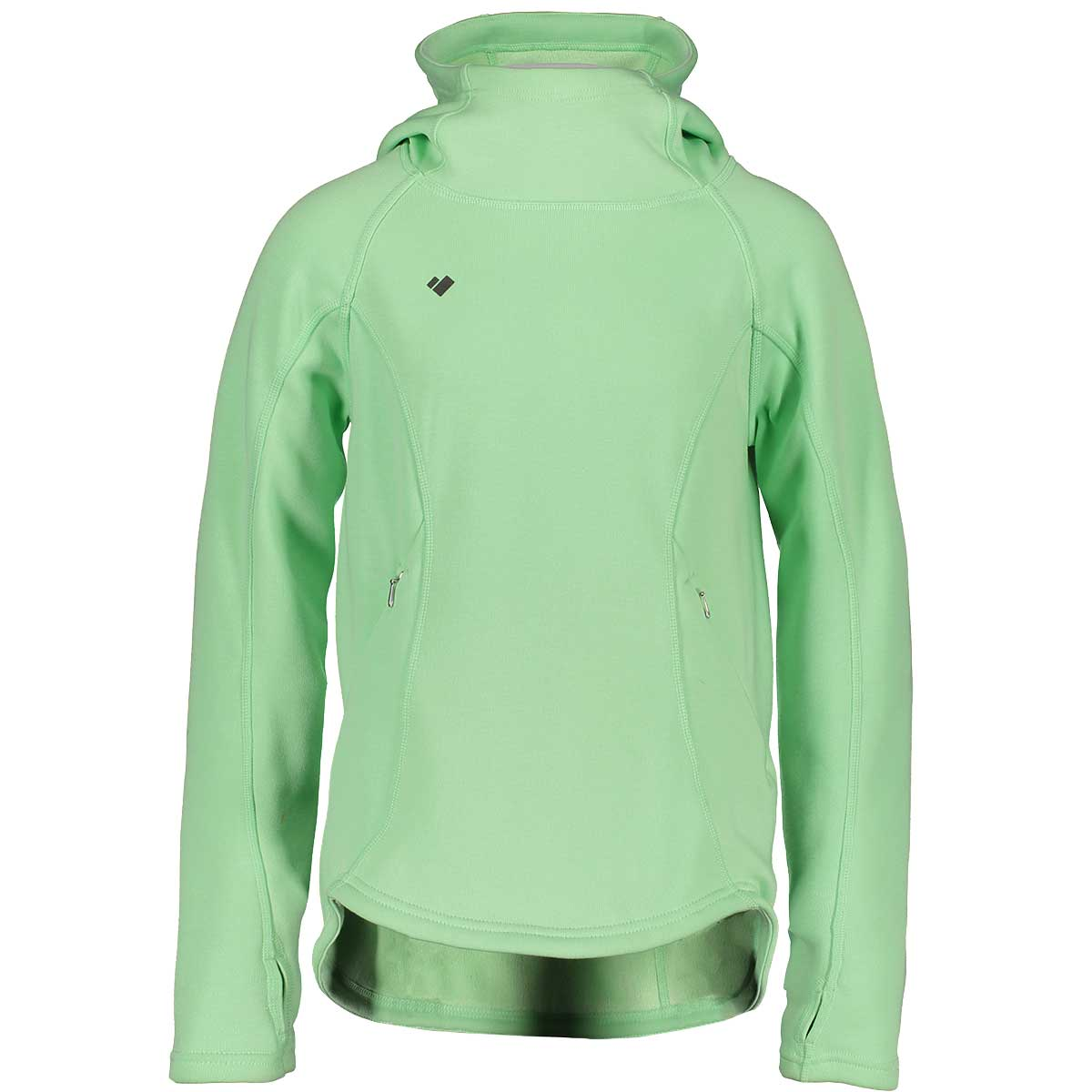 Obermeyer Teen Girls' Linnea Hoodie in Neo Mint front view