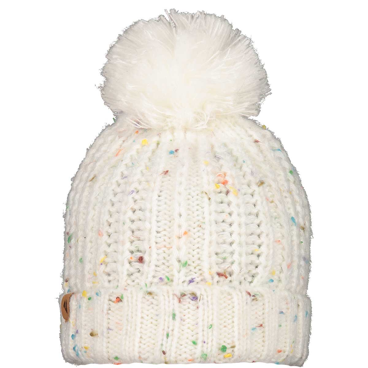Obermeyer Teen Girls' Ouray Pom Beanie in White main view