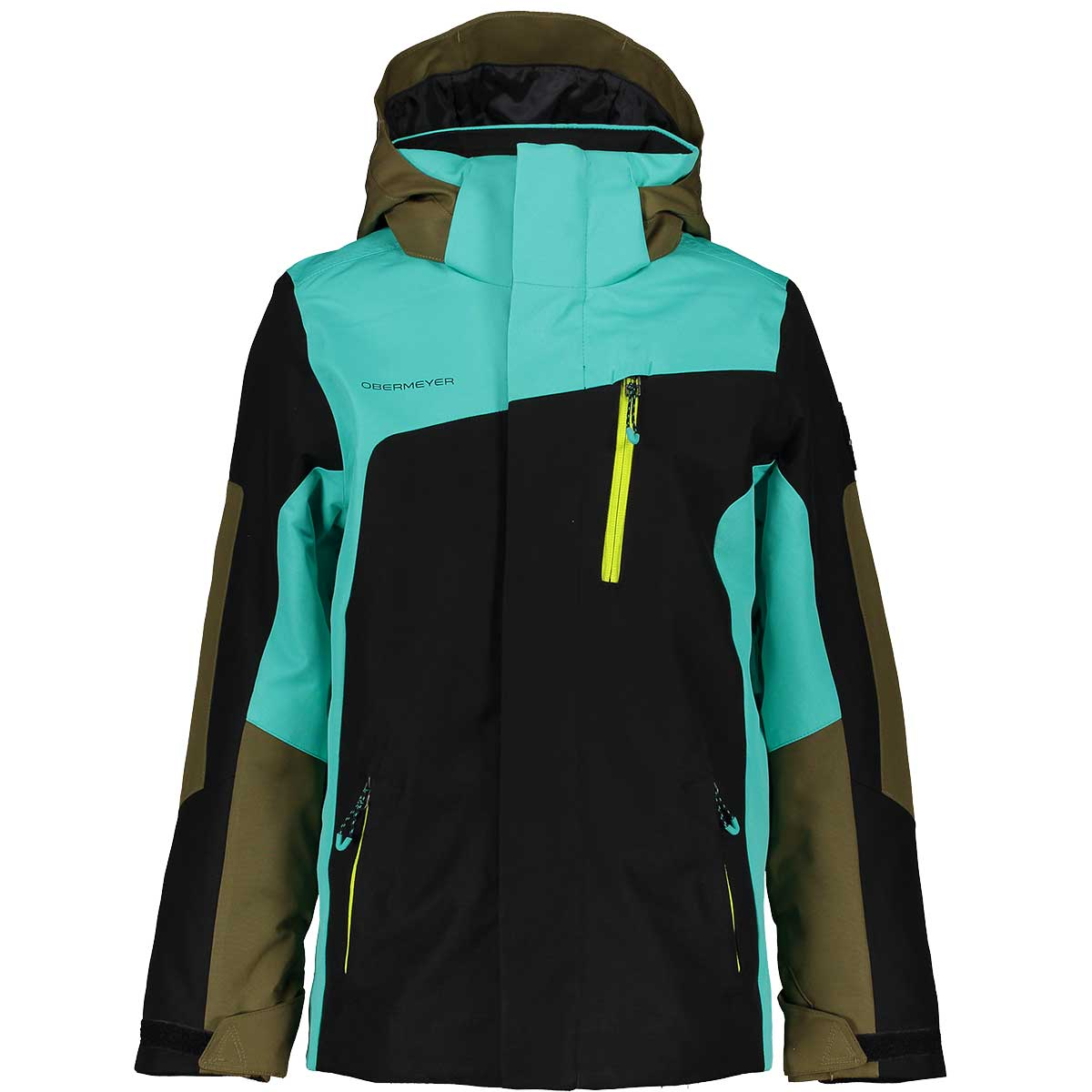 Obermeyer Teen Boys' Outland Jacket in Off Tropic front view
