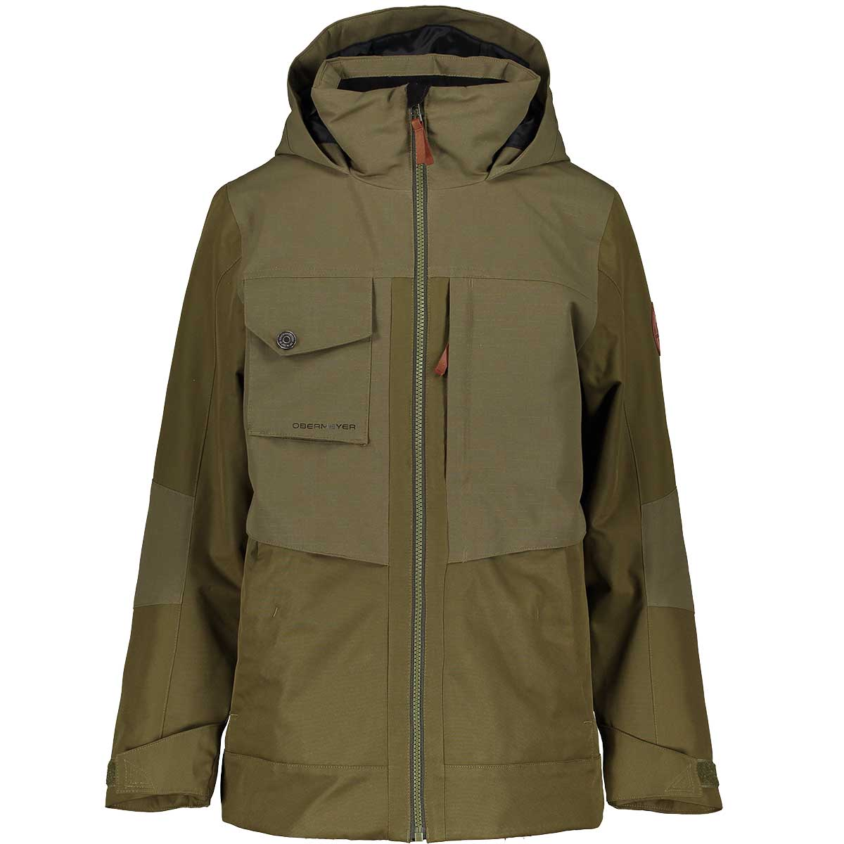 Obermeyer Teen Boys' Colt Jacket in Military Time front view