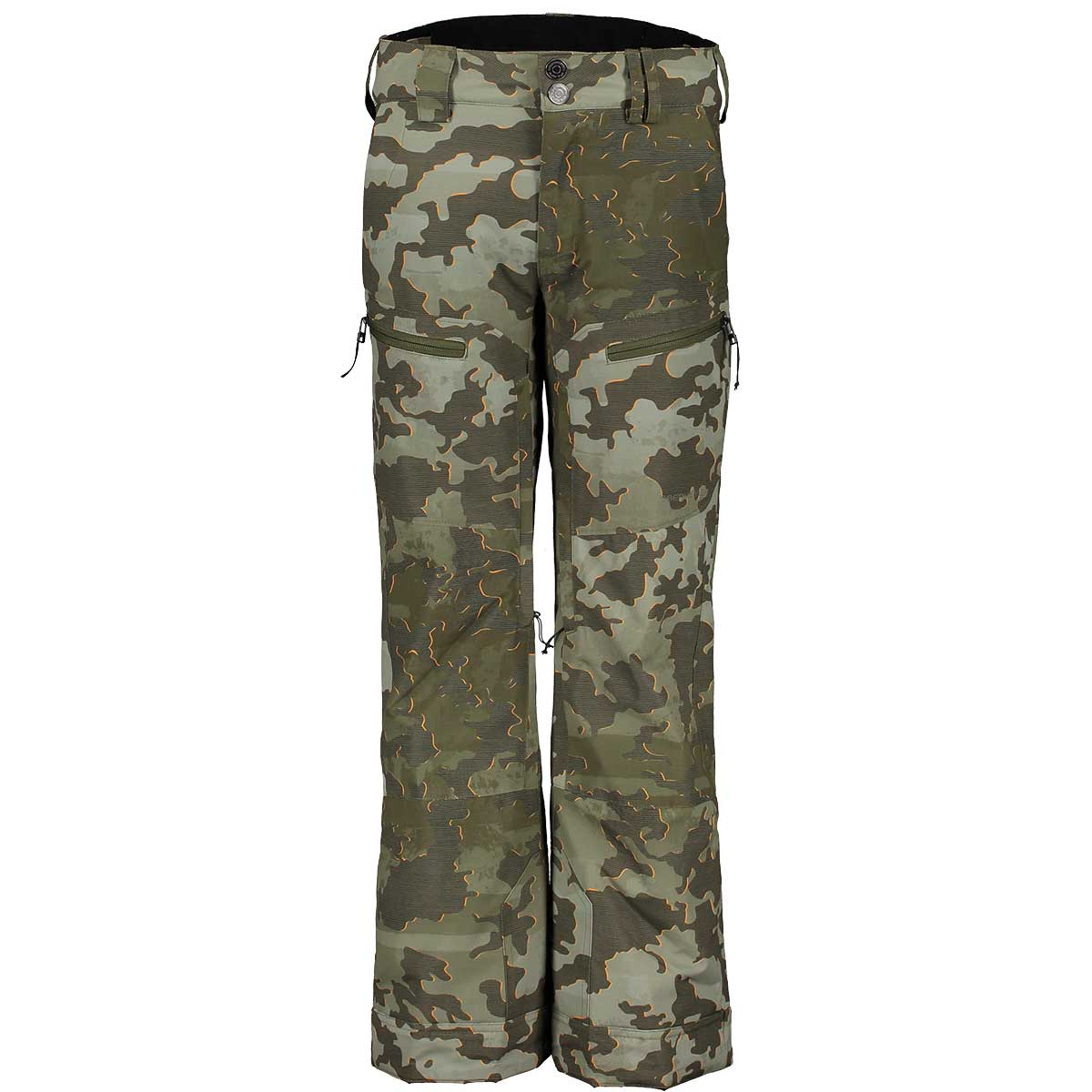 Obermeyer Teen Boys' Parker Pant in Bootcamp Camo front view