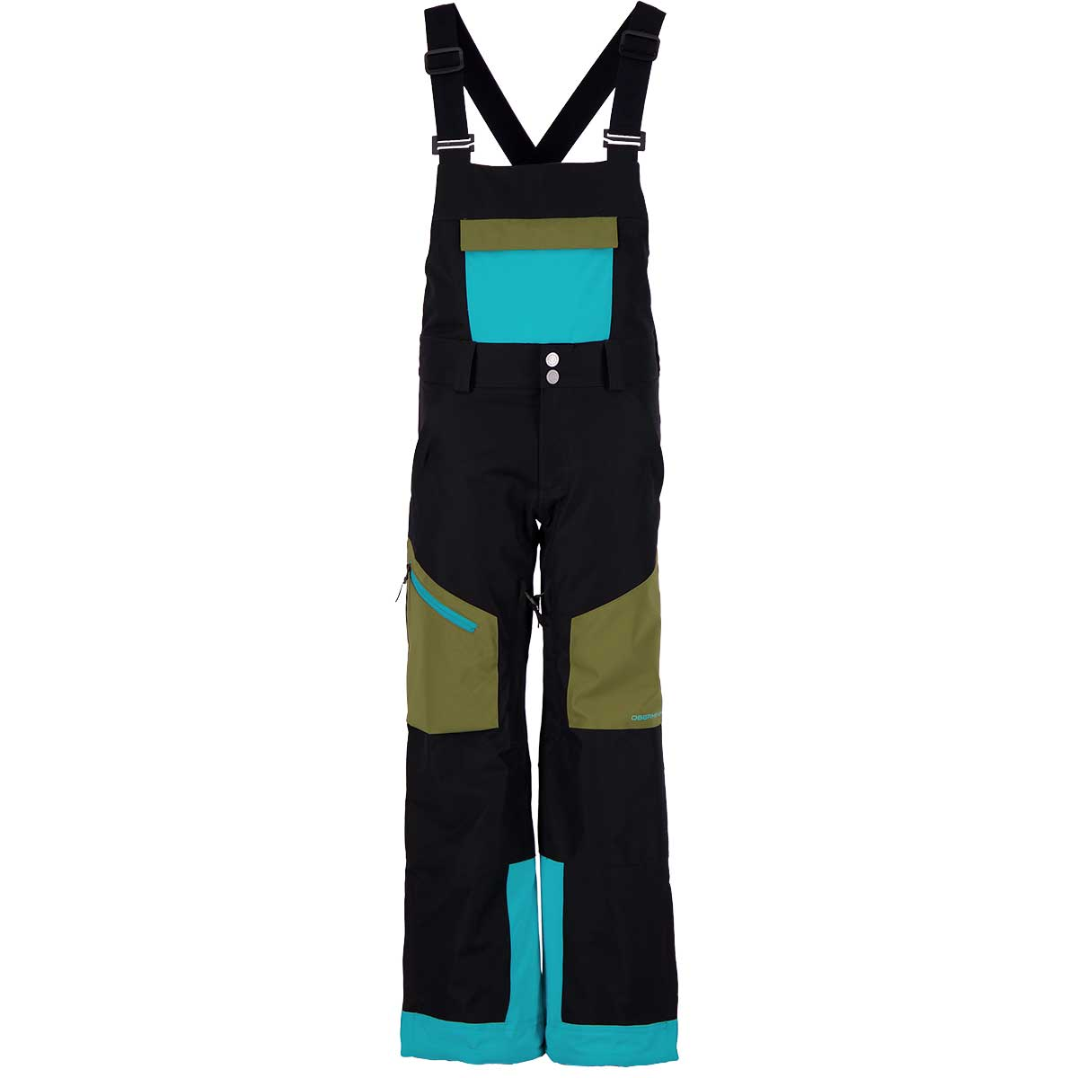 Obermeyer Teen Boys' Connor Bib Pant in Off Tropic front view