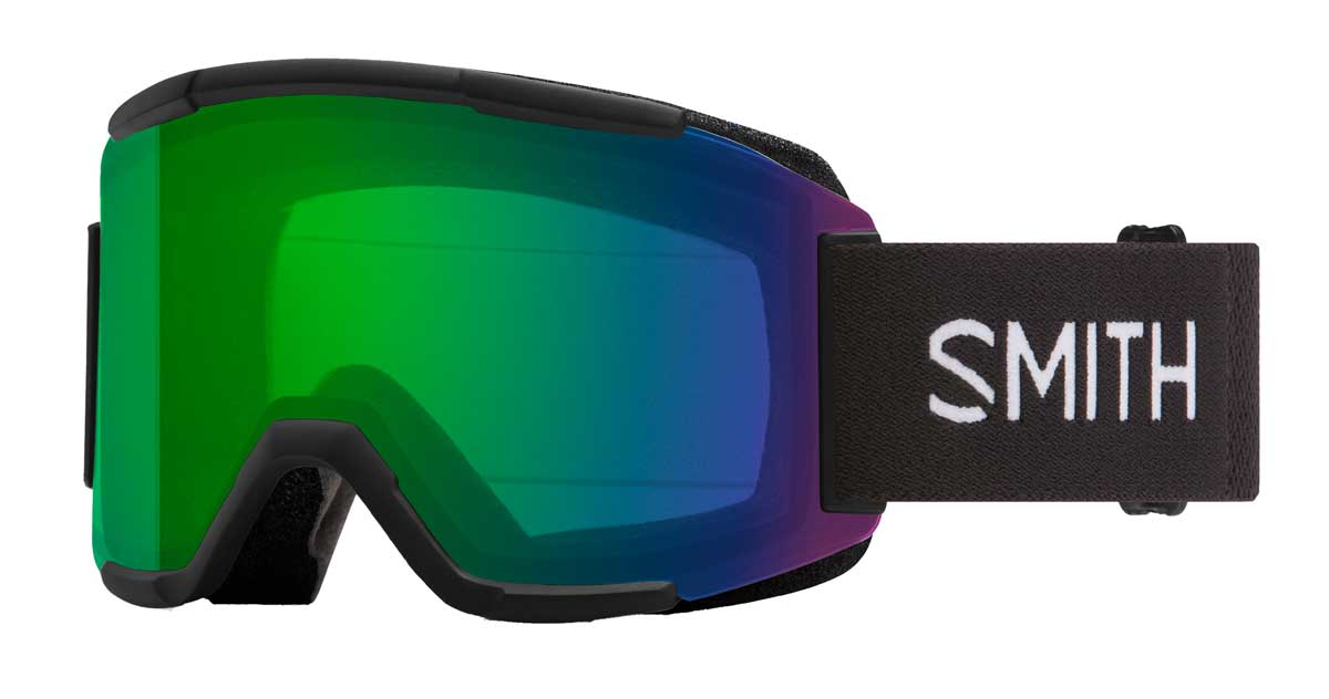 Smith Squad ChromaPop Goggles in Black with Everyday Green Mirror-Yellow