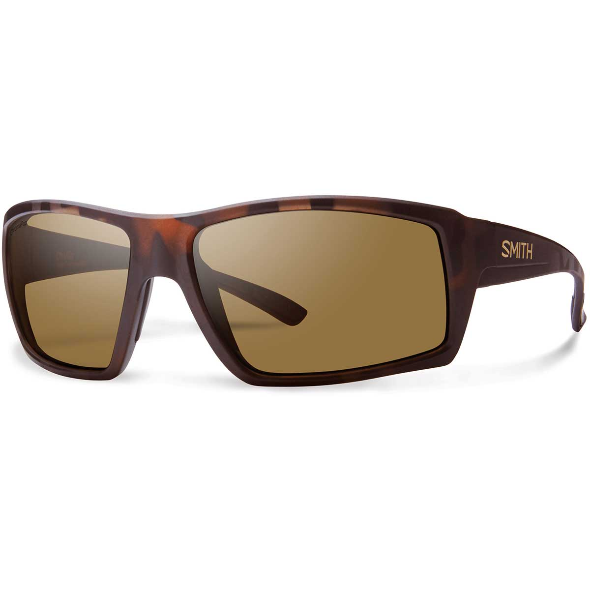 Smith Challis Sunglasses Polarized Chromapop in Matte Tortoise with Brown main view
