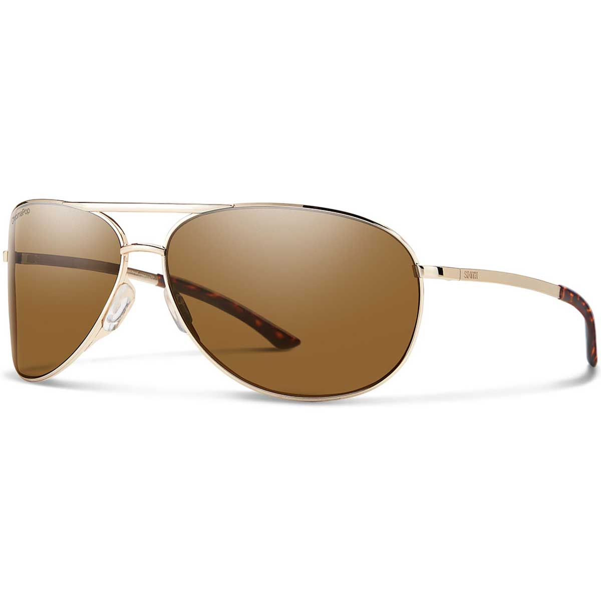 Smith Serpico 2 Sunglasses Polarized Chromapop in Gold with Brown main view