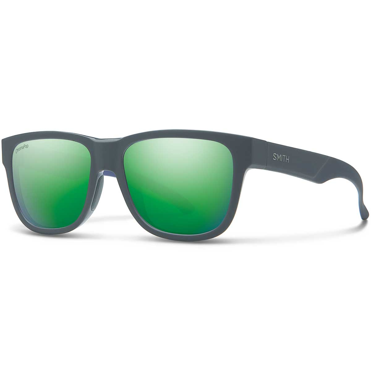 Smith Lowdown Slim 2 Sunglasses Chromapop in Matte Smoke Blue with Green Mirror main view