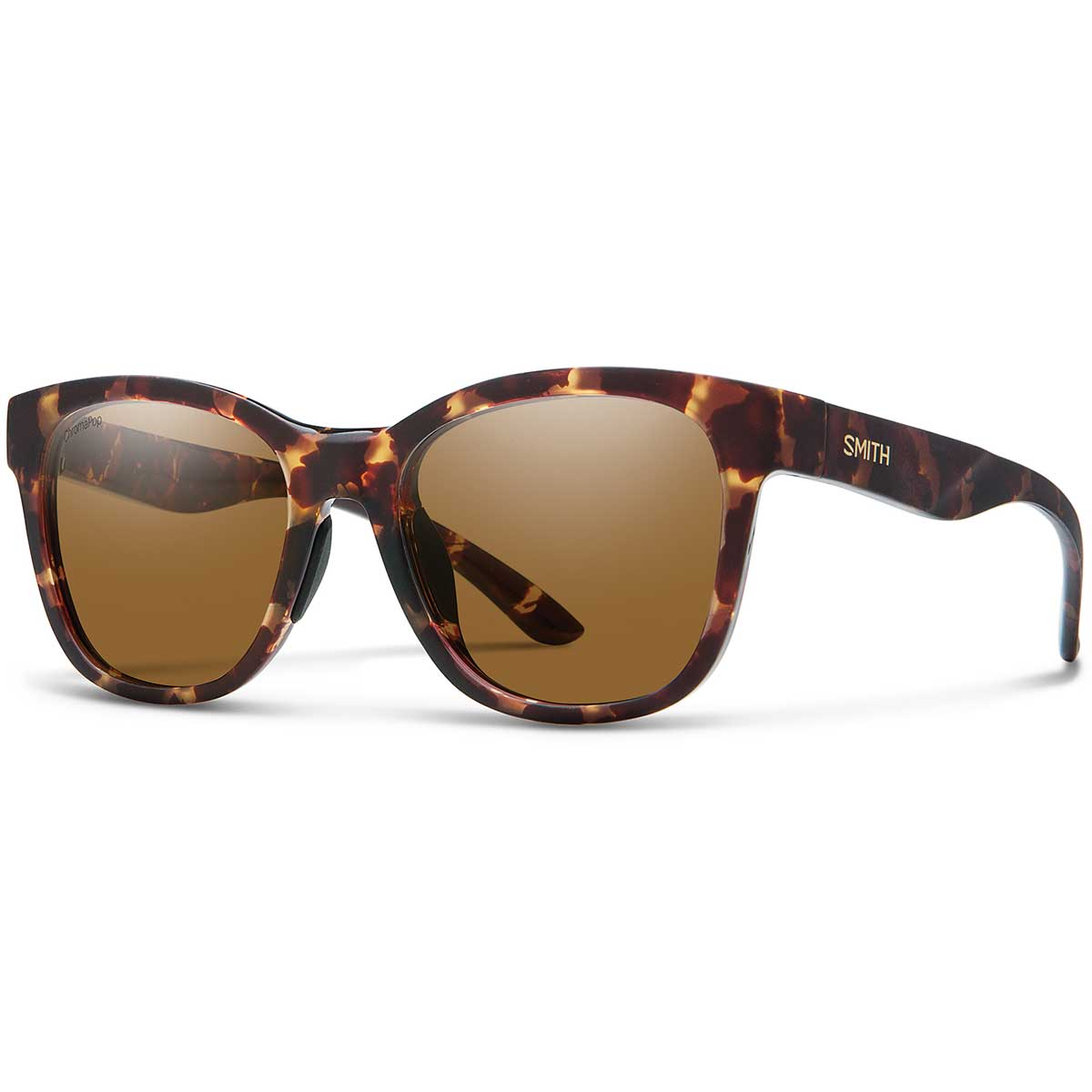Smith Caper Sunglasses Polarized Chromapop in Matte Tortoise with Brown main view