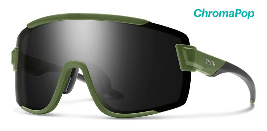 Smith Wildcat Sunglasses Chromapop in Matte Moss with Black main view