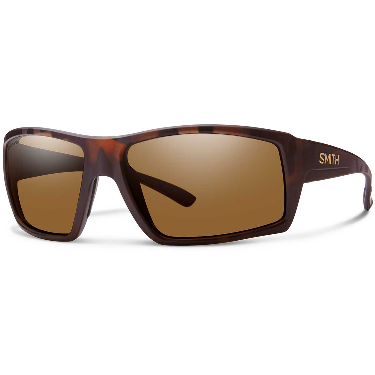 Smith Challis sunglasses in Matte Tortoise with Brown polarized ChromaPop glass lenses