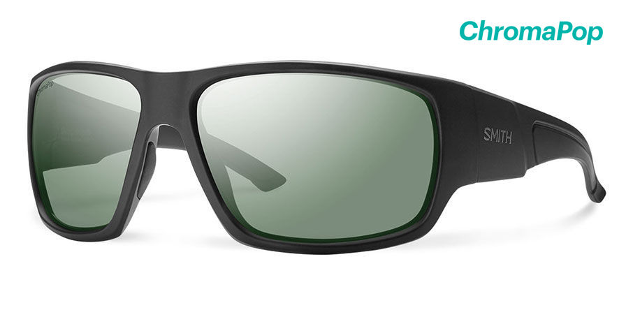 Smith Dragstrip Elite Sunglasses Polarized Chromapop+ Elite in Black with Grey Green main view
