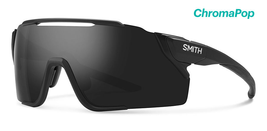 Smith Attack MAG MTB Sunglasses Chromapop in Matte Black with Black