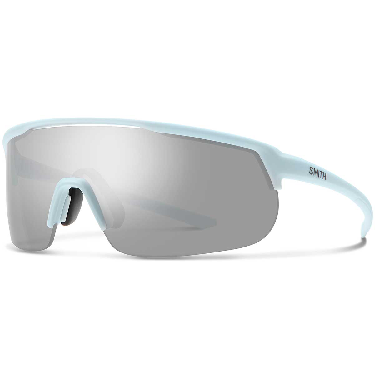 Smith Trackstand Sunglasses Chromapop in Matte Powder Blue with Platinum Mirror main view