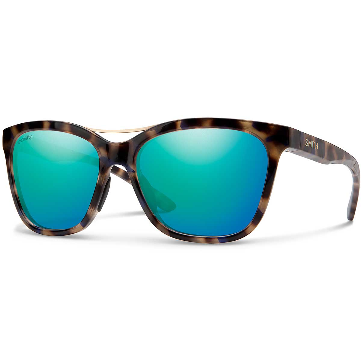 Smith Cavalier Sunglasses Chromapop in Violet Tortoise with Opal Mirror main view