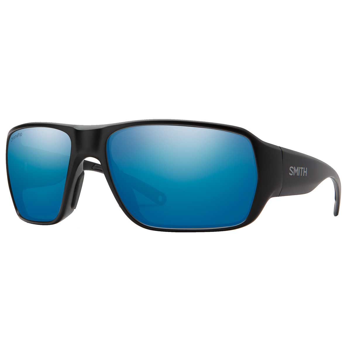 Smith Castaway sunglasses in Matte Black with blue mirror ChromaPop+ Polarized