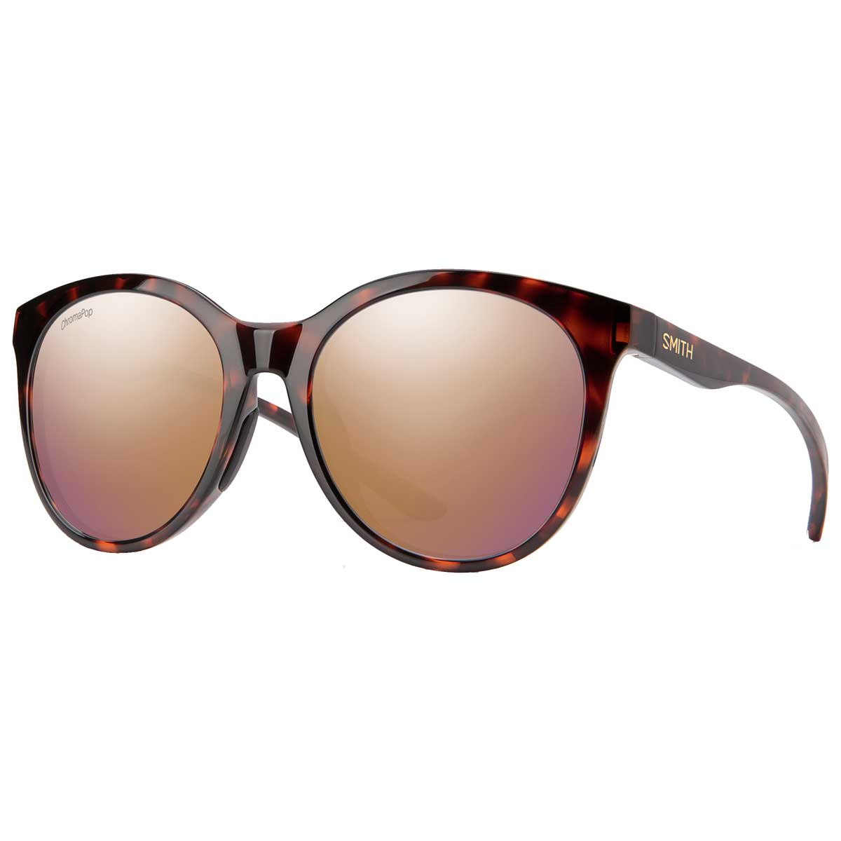 Smith Bayside sunglasses in Tortoise with Rose Gold Mirror Chromapop Polarized lenses