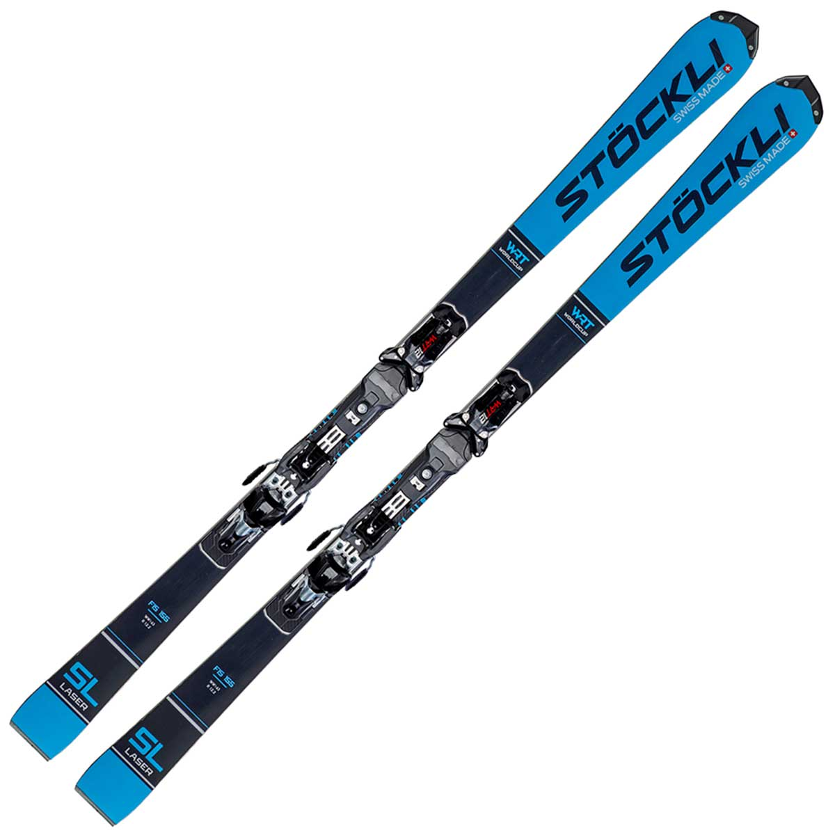 Stockli Laser SL FIS system women's ski in blue