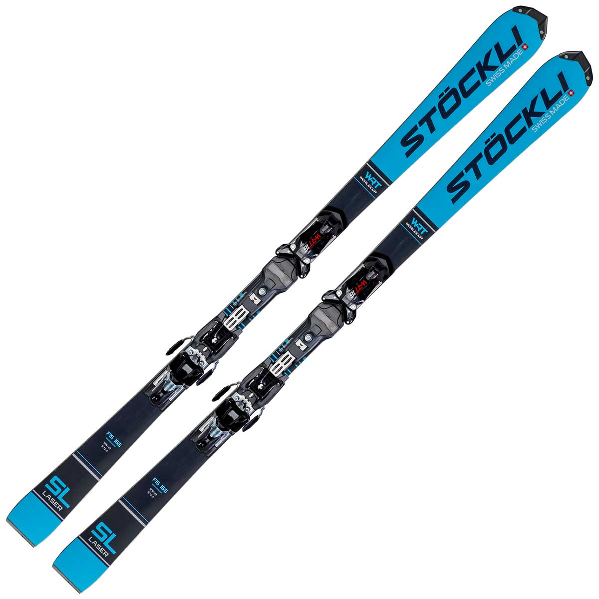 Stockli Laser SL FIS system men's ski in blue