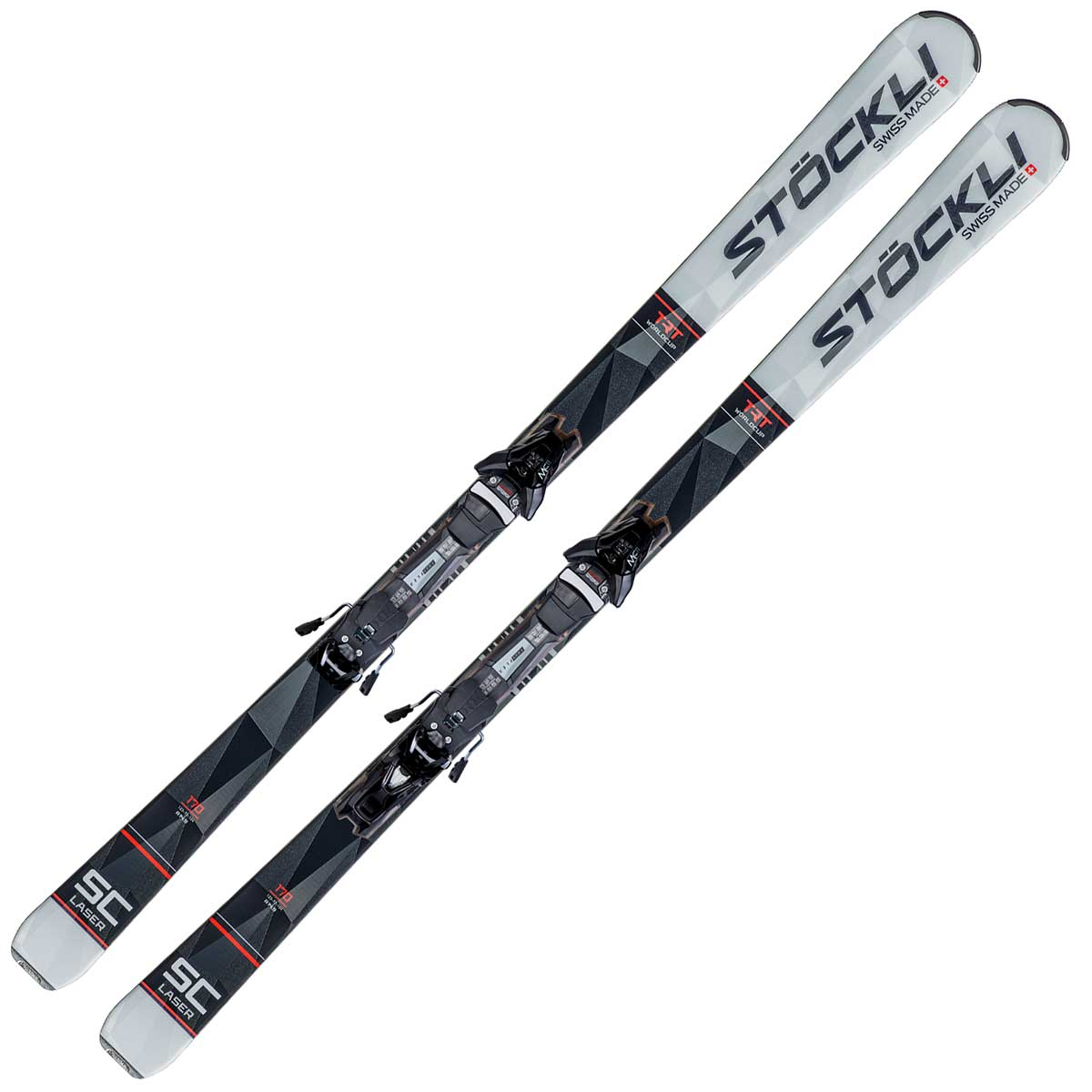 Stockli Laser SC system ski in grey and black